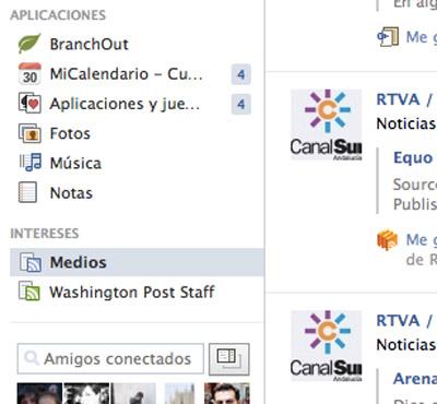 detalle de los INTERESES de Facebook