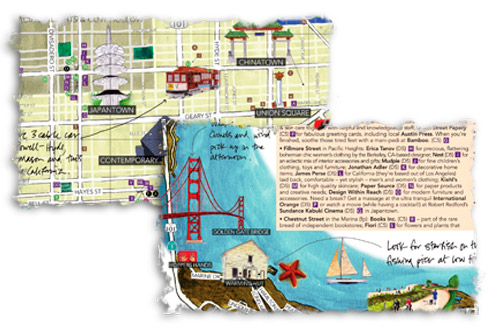 Los mapas dibujados a mano de A la carte