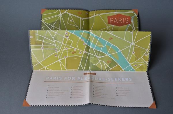 Uno de los mapas de París creados por Herb Lester Associates