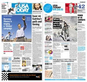 Portadas del USA TODAY antes y después del rediseño en papel (newseum.org)