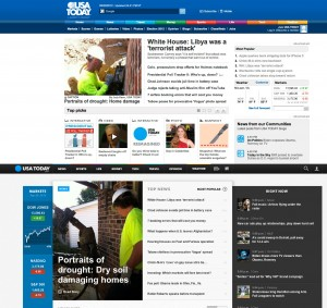 USA TODAY web antes y después