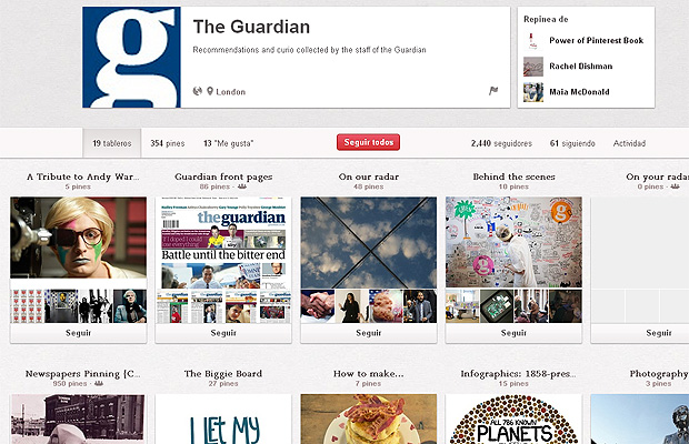 The Guardian en Pinterest