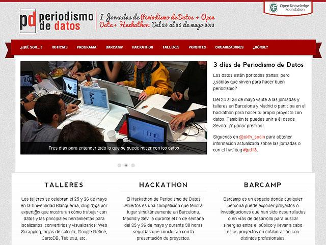 Captura web jornadas periodismo de datos