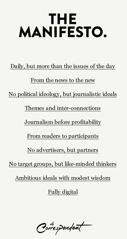 De Correspondent manifiesto