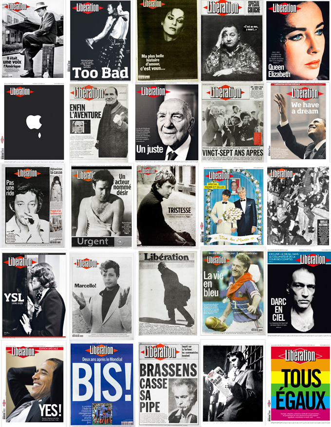 Algunas de las portadas de Libération