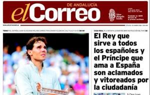 Detalle portada El Correo 09/06/2014