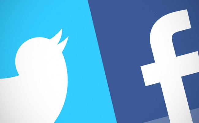 logos Twitter y Facebook