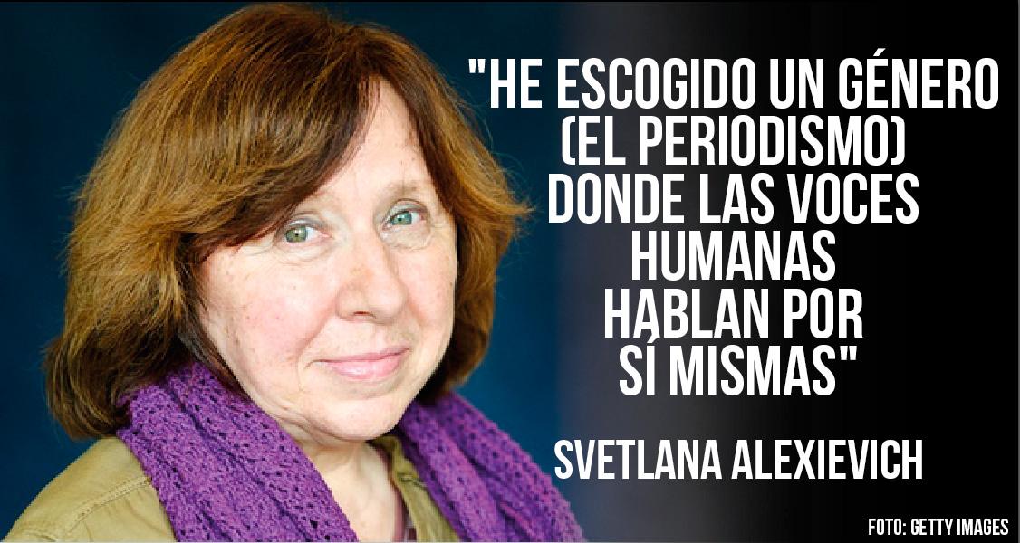 Svetlana Alexievich, la primera periodista que gana el premio Nobel de Literatura