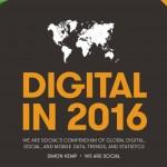 Estudio sobre el estado de internet y las redes sociales en 2016
